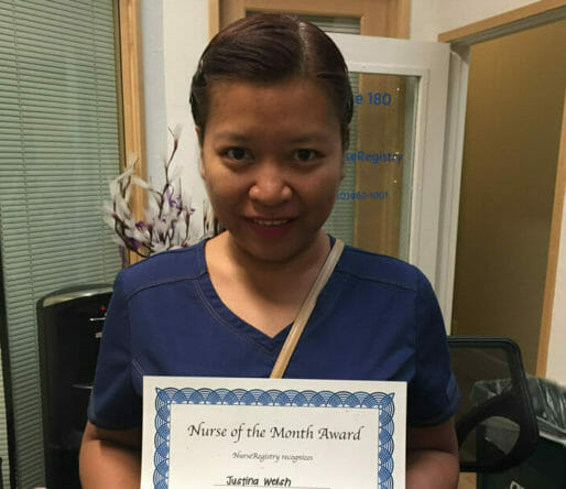 July Nurse of the Month, Justina Welsh