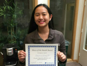 marjoerie-nurse of the month
