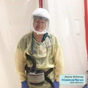 Nurse Brittney winner of the 2020 CelebrateNurses giveawy