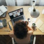 nurse studying online