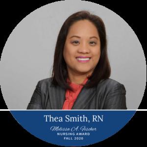 Thea Smith, RN_Fall 2020 Melissa A. Fischer Nursing Award