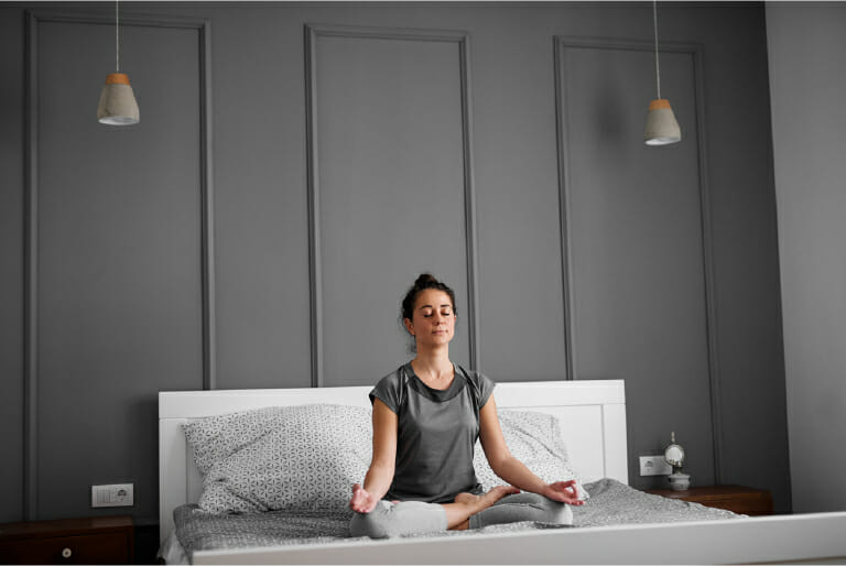 yoga to sleep faster and better