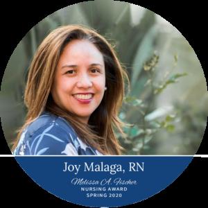 Joy Malaga, LVN_Spring 2021 Melissa A. Fischer Nursing Award