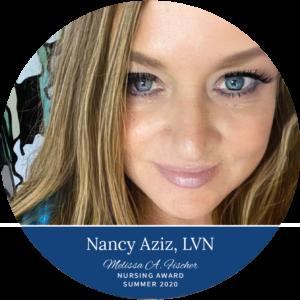 Nancy Aziz, LVN_Summer 2020 Melissa A. Fischer Nursing Award