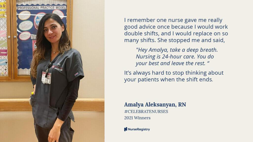#CelebrateNurses Amalya Quote